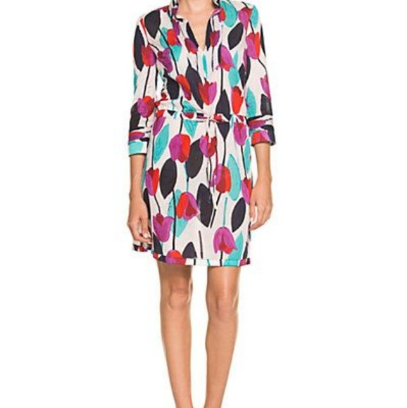 006eeee7ab New Tory Burch Daniela Ballet Pink Tulip Dress Sz4.  M_5b5a7048aa571955eff4f55d